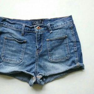 Lucky Brand Shorts - Lucky Brand High Waist Patch Pocket Jean Shorts